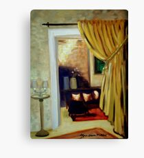 Hearth and Home, the Parlour Canvas Print