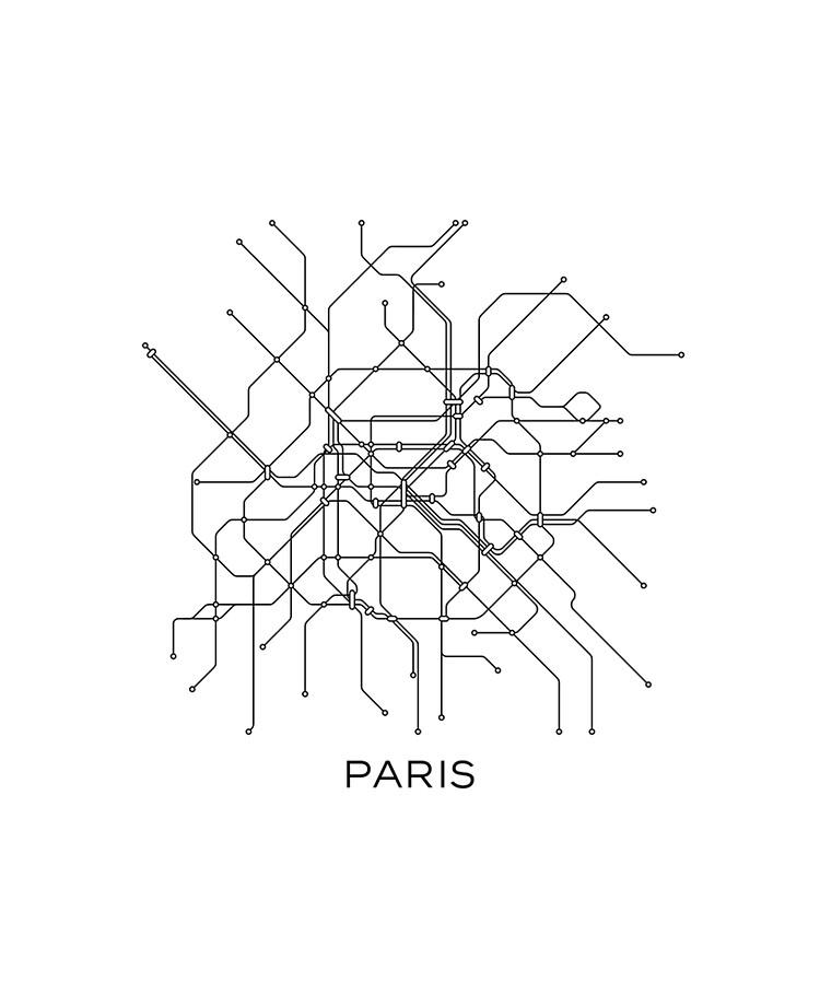 Black And White Subway Map.Paris Subway Map Black White Lines Vintage Map Retro Print Paris Metro Map Poster Paris Map Printable Metro Map Subway Paris Subway Map Ipad Case