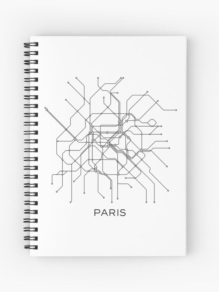 Black And White Subway Map.Paris Subway Map Black White Lines Vintage Map Retro Print Paris Metro Map Poster Paris Map Printable Metro Map Subway Paris Subway Map Spiral