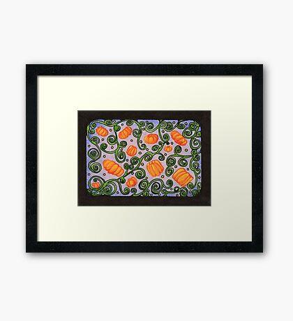 Dizzy Pumpkins Framed Print