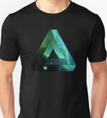 Abstract Geometry: Penrose Nebula (Ethereal Blue/Green) T-Shirt
