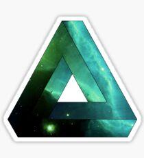 Abstract Geometry: Penrose Nebula (Ethereal Blue/Green) Sticker