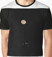 First Full Moon Of 2017 Over The City  Graphic T-Shirt