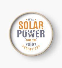 Solar Power Thing Clock