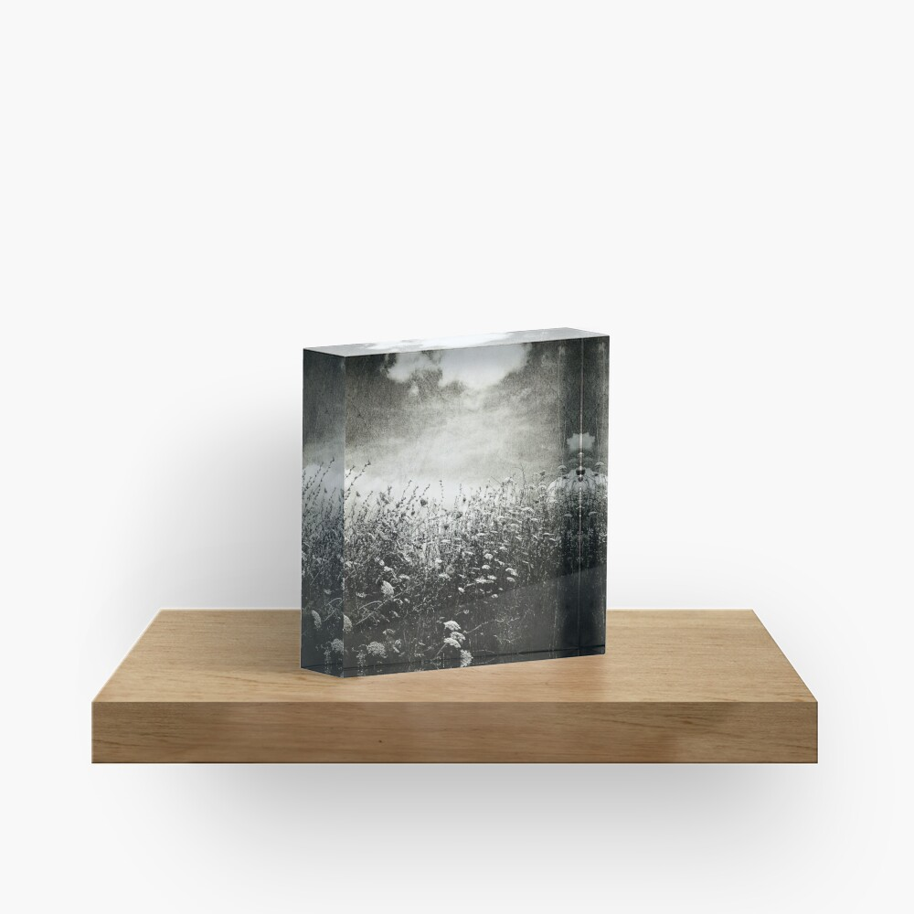 Counting Flowers Like They Were Stars Acrylic Block