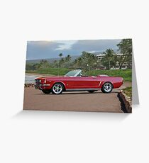 1966 Ford Mustang Convertible Greeting Card