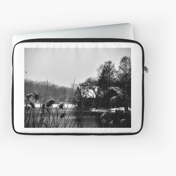 out for a walk in the snow Laptop Sleeve