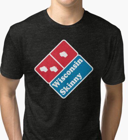 Wisconsin Skinny zaaaaa Tri-blend T-Shirt