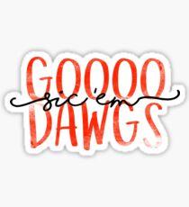 Go Dawgs Sticker