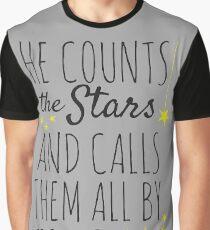 Psalm 147:4 Bible Verse Graphic T-Shirt