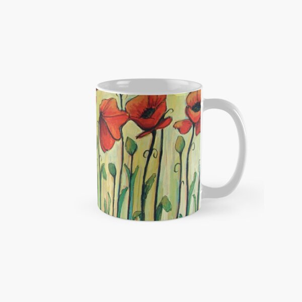 Eleven Red Poppies Classic Mug