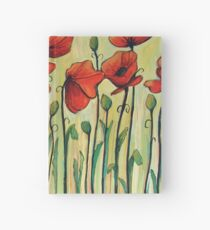 Eleven Red Poppies Hardcover Journal