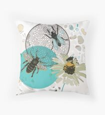 Insects in Flight  Throw Pillow