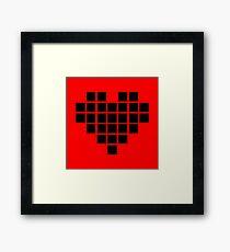 Pixel heart Framed Print
