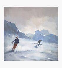 Last Run, Les Arcs Photographic Print
