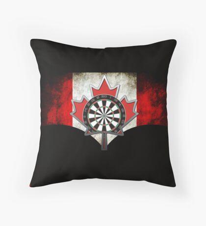 Darts Canada Throw Pillow