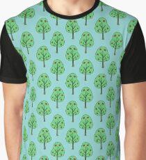 Apple Tree Pattern Graphic T-Shirt