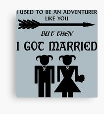But Then I Got Married Canvas Print