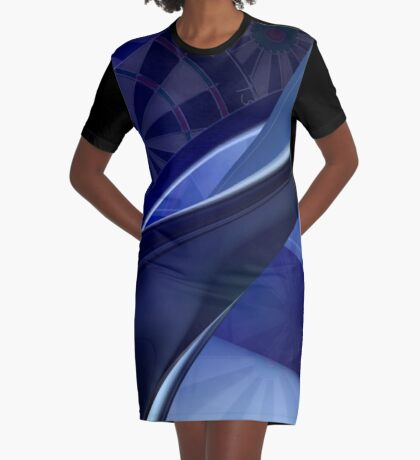 Darts Abyss Graphic T-Shirt Dress