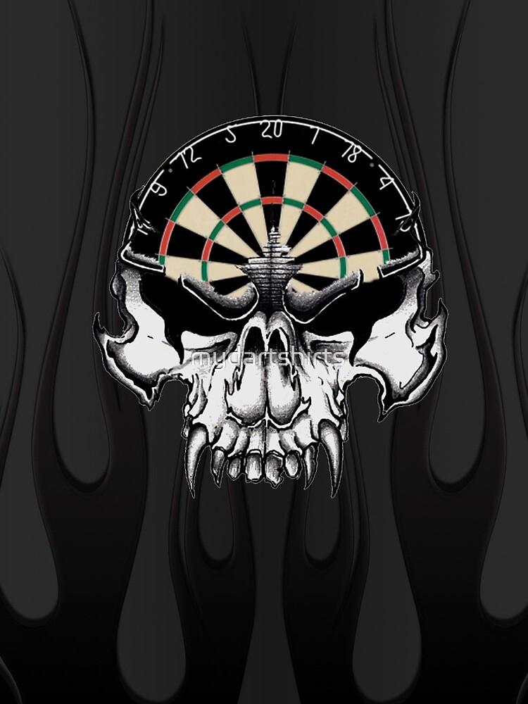 Darts Skull and Flames by mydartshirts