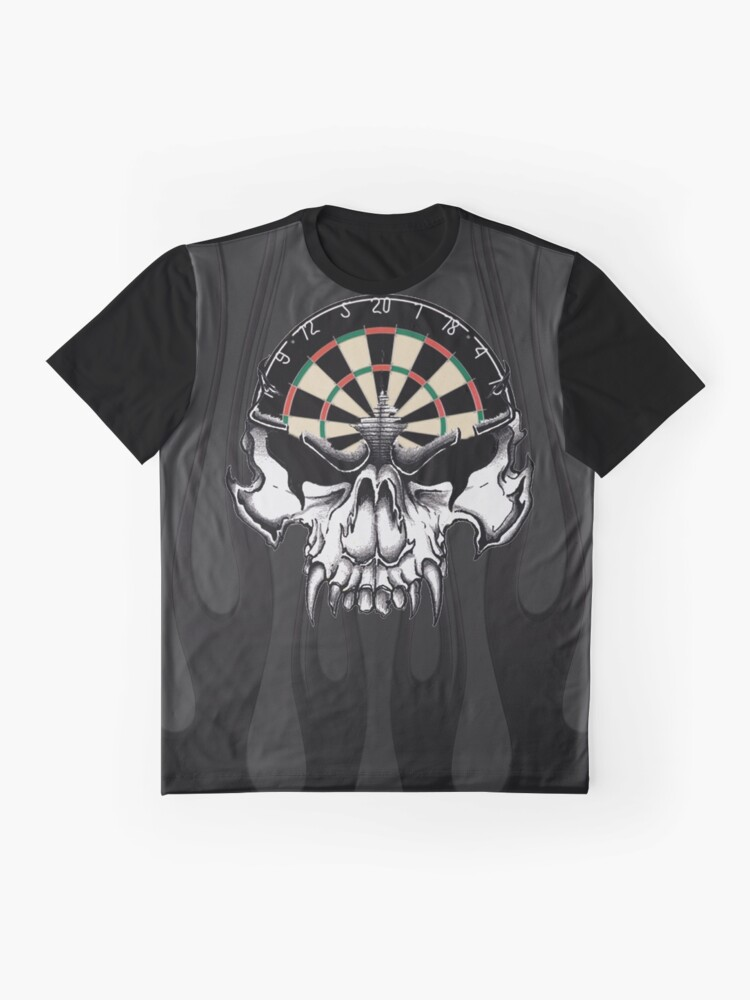 Alternate view of Darts Skull and Flames Graphic T-Shirt