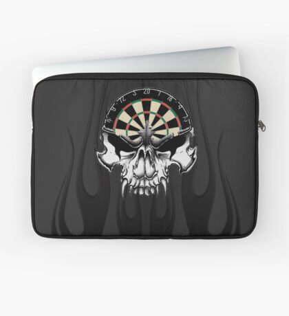 Darts Skull and Flames Laptop Sleeve