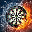 Fire And Ice Dartboard by mydartshirts