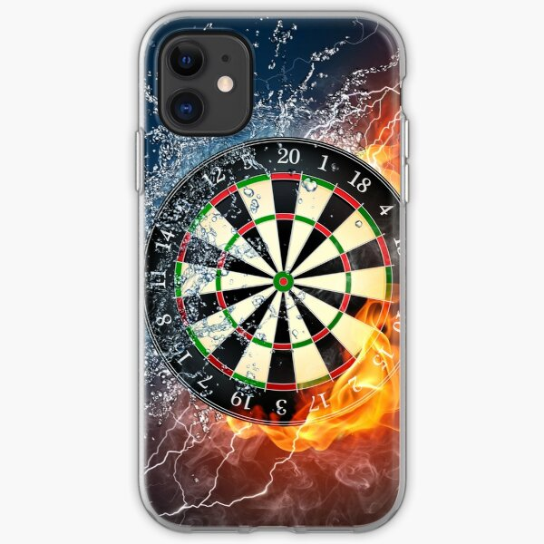 Fire And Ice Dartboard iPhone Soft Case