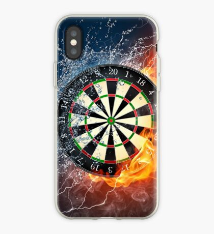 Fire And Ice Dartboard iPhone Case
