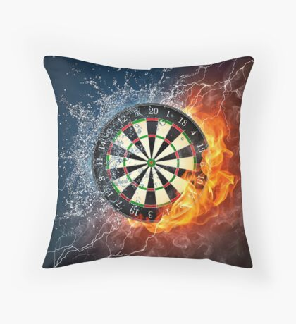 Fire And Ice Dartboard Throw Pillow