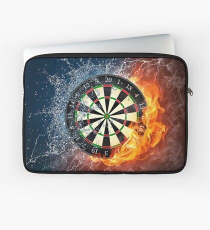 Fire And Ice Dartboard Laptop Sleeve