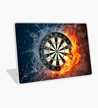 Fire And Ice Dartboard Laptop Skin