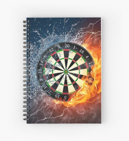Fire And Ice Dartboard Spiral Notebook