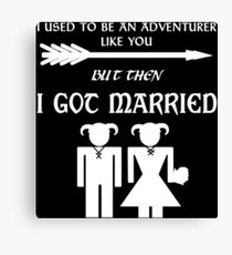 But Then I Got Married (White) Canvas Print
