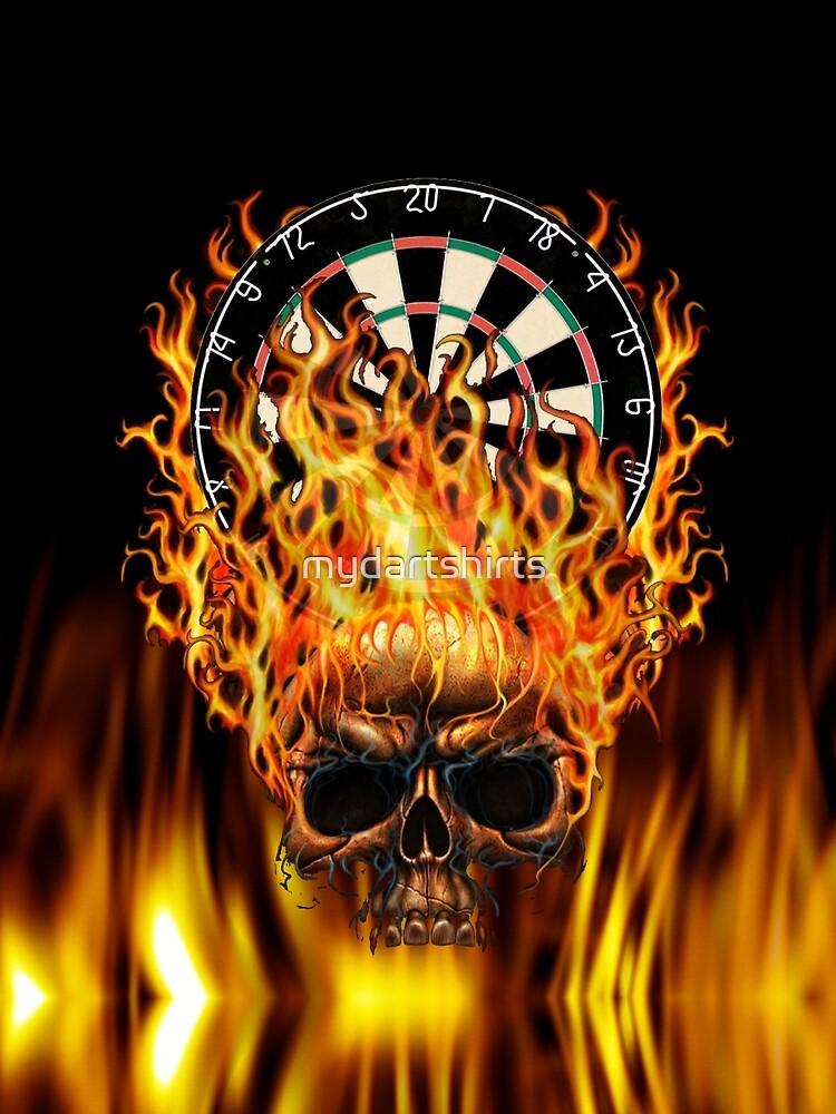 Flaming Skull Dartboard by mydartshirts