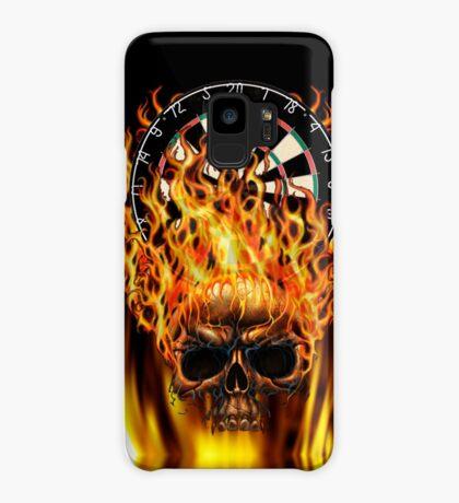 Flaming Skull Dartboard Case/Skin for Samsung Galaxy