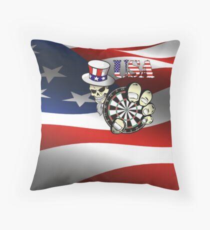 USA Darts Throw Pillow