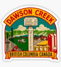 Dawson Creek BC Vintage Travel Decal Sticker