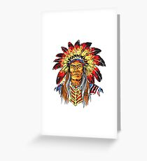 Indian Chief Greeting Card