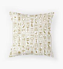 Ancient Egyptian Hieroglyphs Throw Pillow