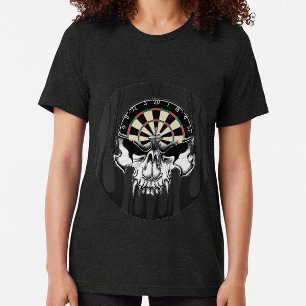 Darts Skull Tri-blend T-Shirt
