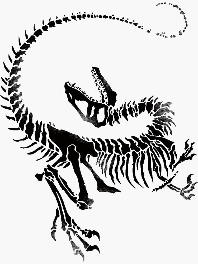 Velociraptor Skeleton Print de JJJericho