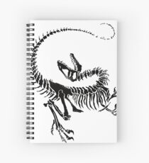 Velociraptor Skeleton Print Spiral Notebook