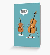Cello! Greeting Card