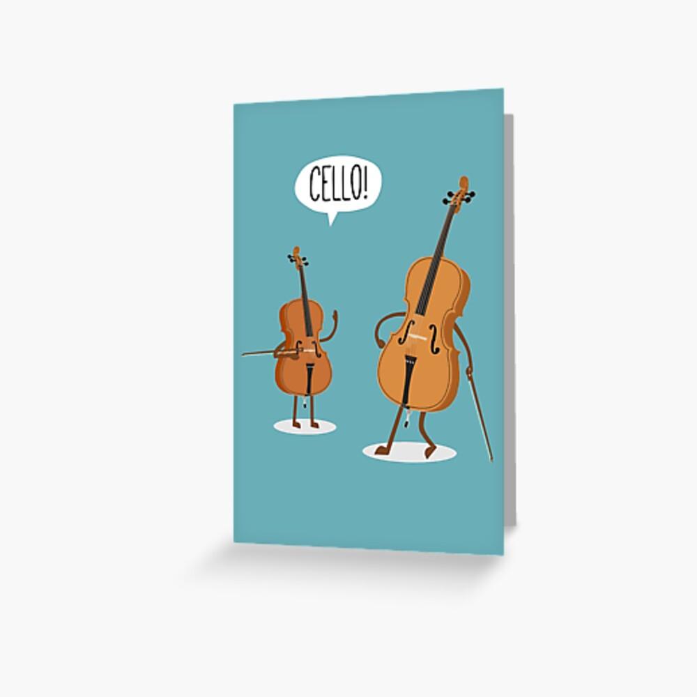 Cello! Grußkarte