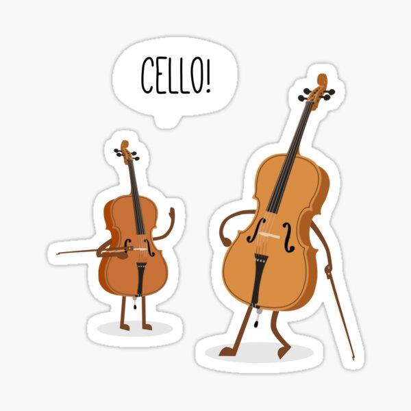 Cello! Sticker