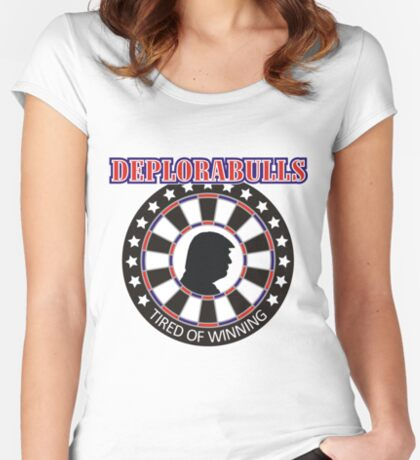 Darts Players: Deplorabulls Women's Fitted Scoop T-Shirt