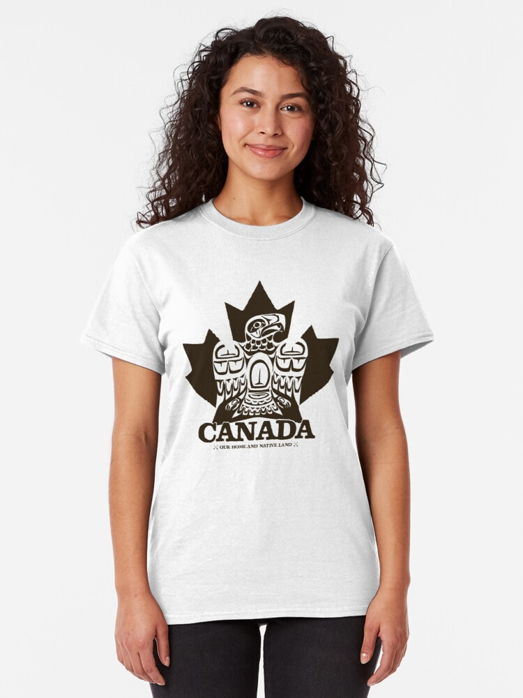 Alternate view of Canada Eagle Black Classic T-Shirt