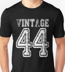 Vintage 44 1944 2044 T-shirt Birthday Gift Age Year Old Boy Girl Cute Funny Man Woman Jersey Style Unisex T-Shirt