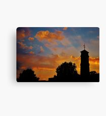 Silhouette in the Sky Canvas Print